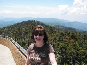 Stacy at Clingman's Dome, Great Smoky Mtn National Park