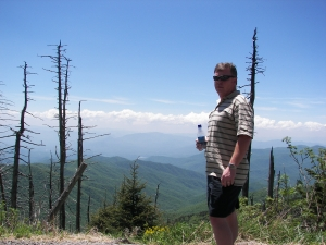 Tim at Clingman's Dome, Great Smoky Mtn National Park