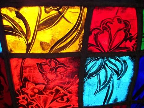 Glass in the Ida Cason Callaway Memorial Chapel, Callaway Gardens GA