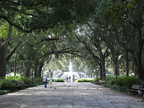 Forsyth Park in the Historic District of Savannah